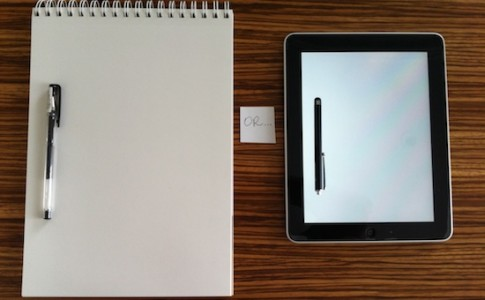 Tablet VS χαρτί...