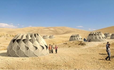Σκηνή για πρόσφυγες που συλλέγει νερό και ηλιακή ενέργεια!