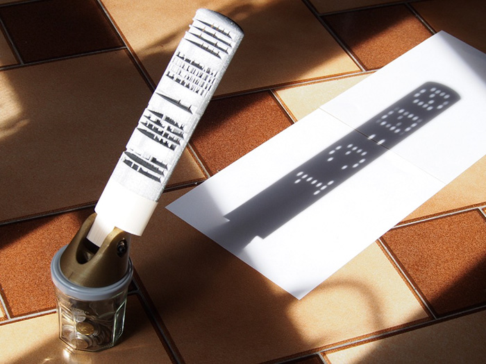 Ένα ψηφιακό ηλιακό ρολόι...