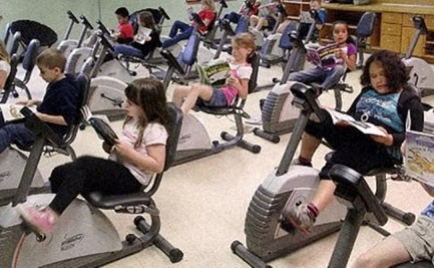 Σχολείο αντικατέστησε τα θρανία με ποδήλατα γυμναστικής!