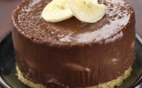 Σοκολατένιο γλύκισμα με πραλίνα και μπανάνα