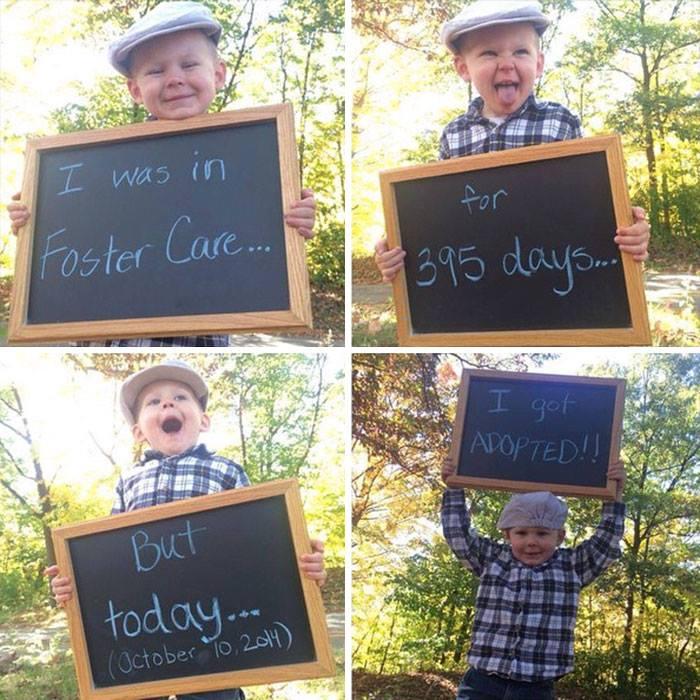 Συγκινητικές φωτογραφίες παιδιών που μόλις υιοθετήθηκαν