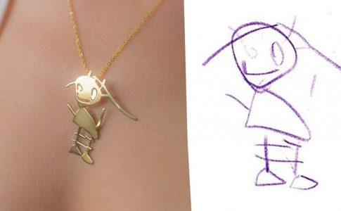 Αυτοί οι καλλιτέχνες θα μετατρέψουν τα σχέδια του παιδιού σας σε όμορφα κοσμήματα!